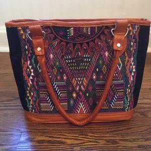 Colorful Handmade Huipil Handbag